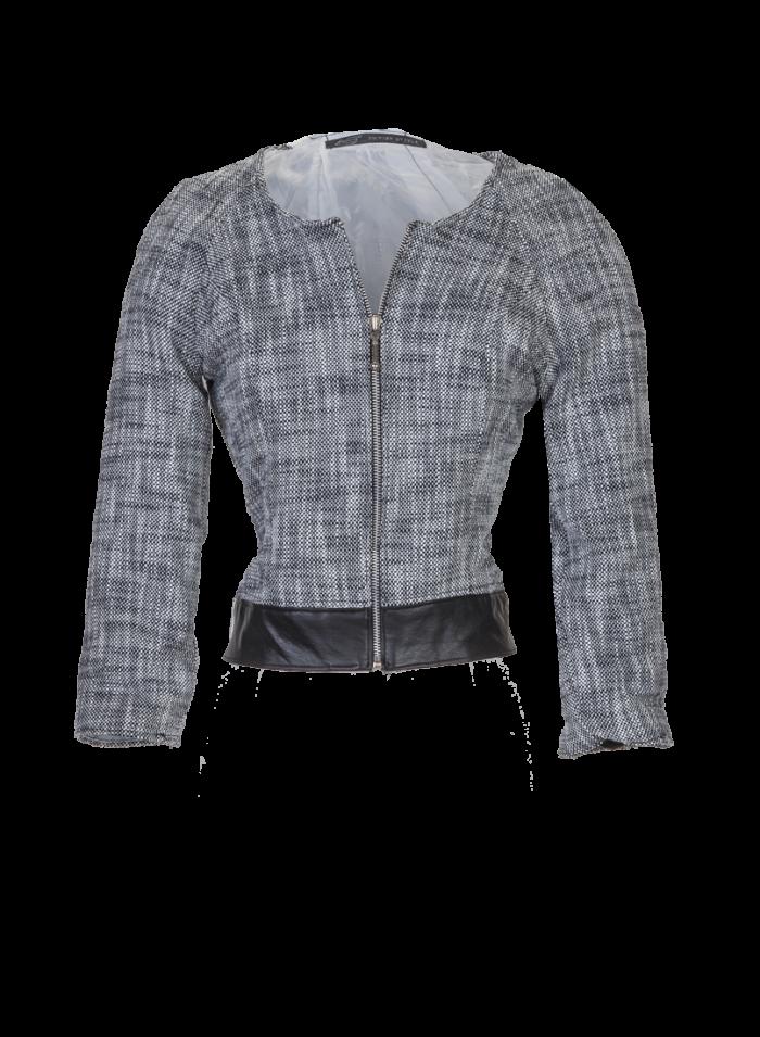 British Steel Boucle Black and White Jacket