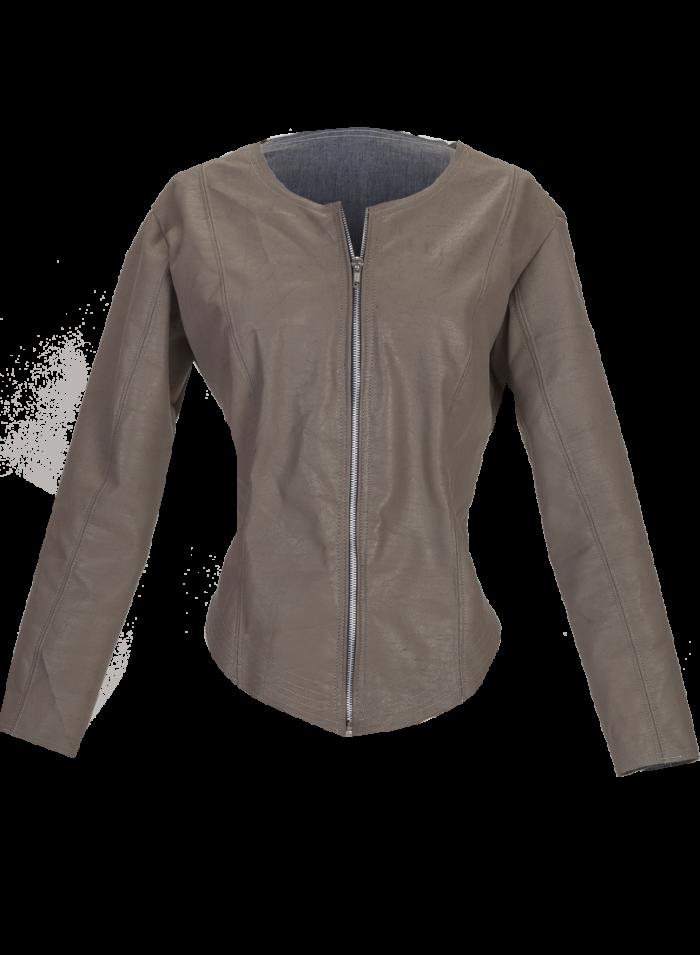 Warm Gray Cropped Mini Jacket