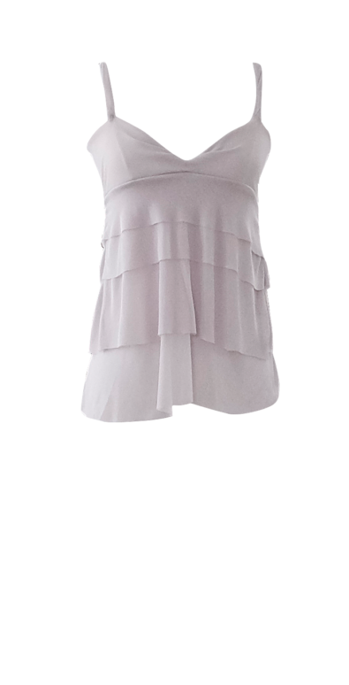Gray Tiered Waterfall Tank Top by British Steele