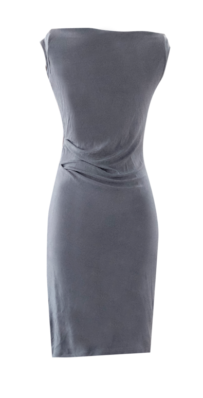 Lavender slinky gather pencil dres by British Steele