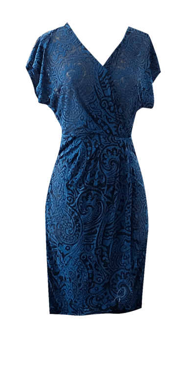 Royal Wrap Paisley Dress by British Steele