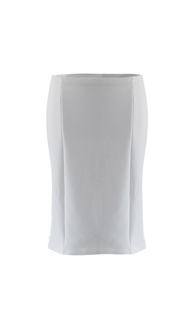 White Pencil Skirt By British Steele