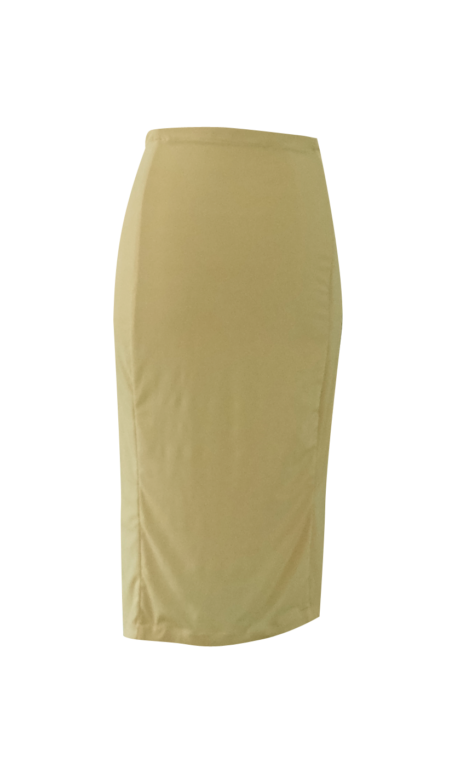Yellow Pencil Skirt by British Steele