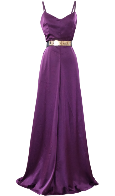 Long Satin Evening Maxi Gown by British Steele