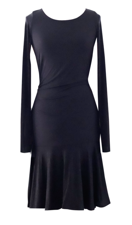 Black Fit to Flare Dress by British Steele