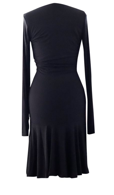 Black Fit and Flare Dress by British Steele