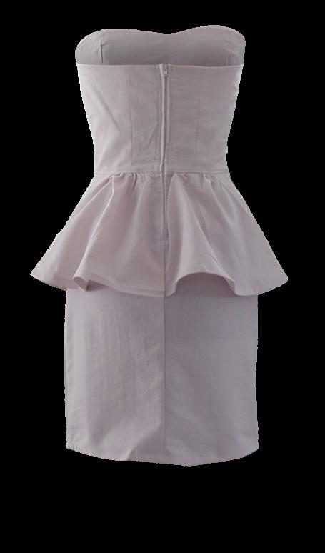Strapless Peplum Cocktail Dress