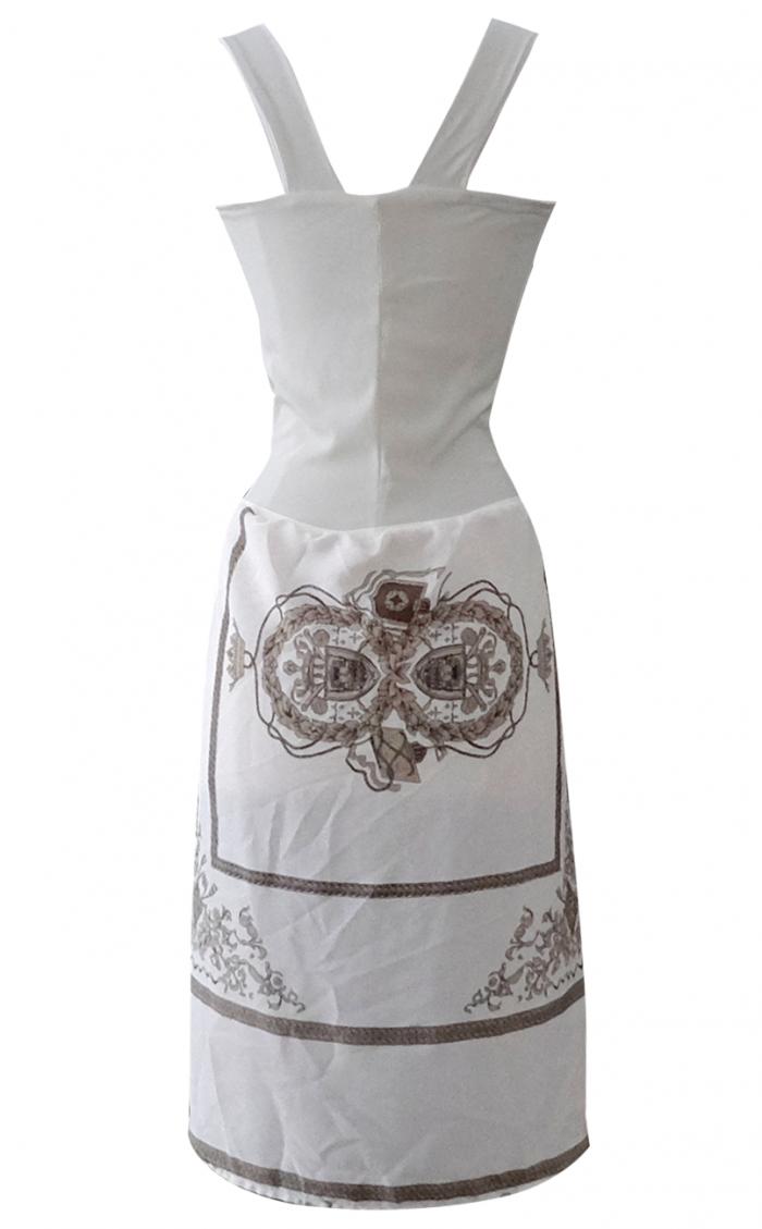 British Steele White Garden Scarf Dress