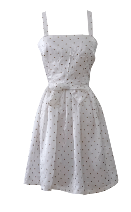 British Steele Little White Million Dollar Dress