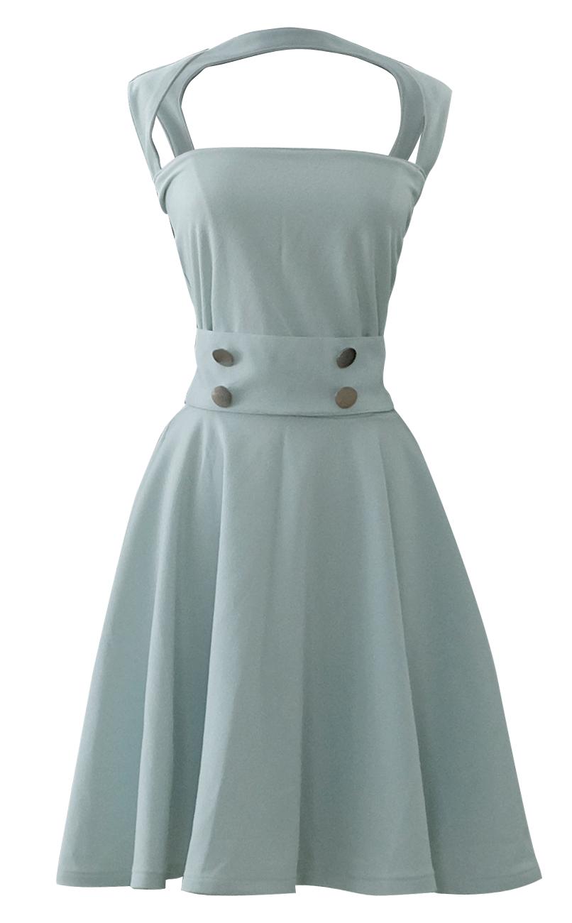 Pinterest Names Blush Pink And Mint Green As Its 2016: Open Back Sea Foam Mint Green Full Circle Dress