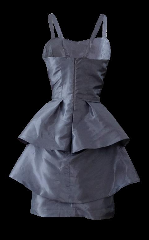 British Steele Peplum Dress