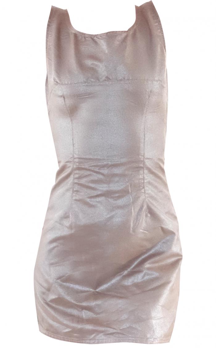 Metallic Gold Minus the Leather Mini Shift Dress