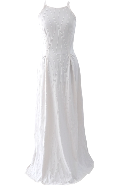 Long White Beautiful Maxi Dress - British Steele