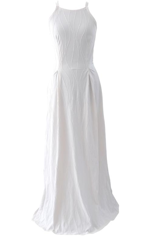 Long White Beautiful Maxi Dress - British Steele