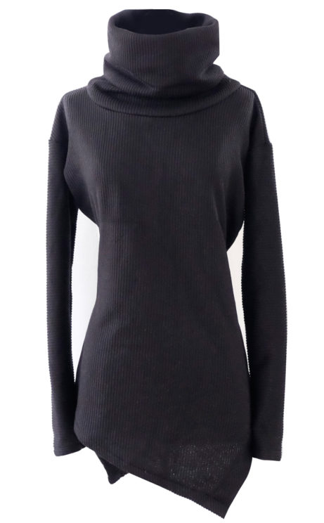 Asymmetrical High Collar Sweater