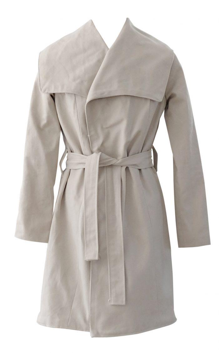 British Steele Beige Denim Camel Coat