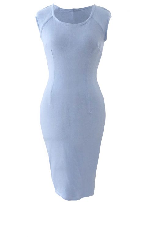 Baby Blues Fitted Office Dress