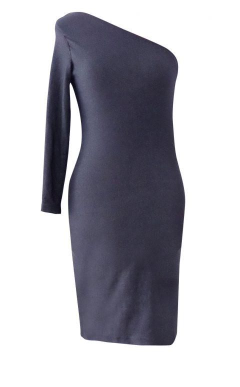 Stretch Denim Asymmetrical One Should Dress