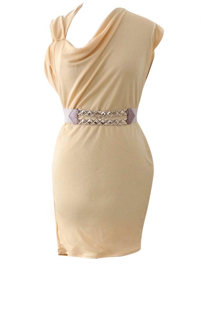Asymmetrical Yellow Mini Dress by British Steele