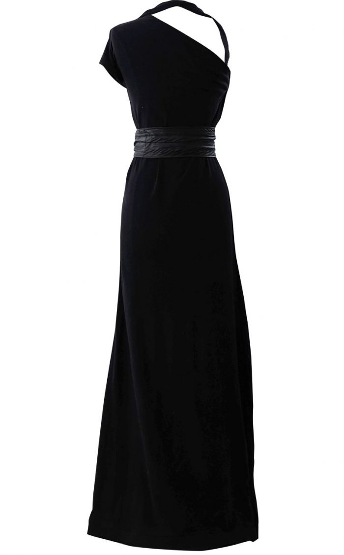 British Steele Asymmetrical Maxi Dress