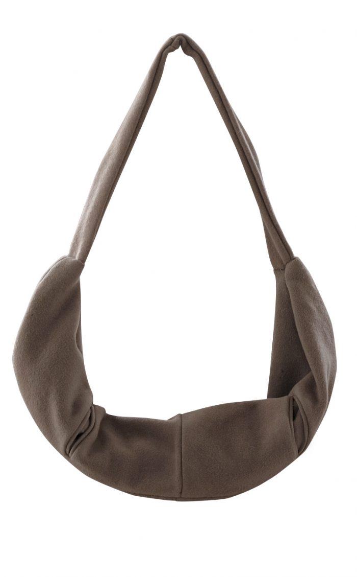 British Steele Brown Horseshoe Oversized Hobo Bag
