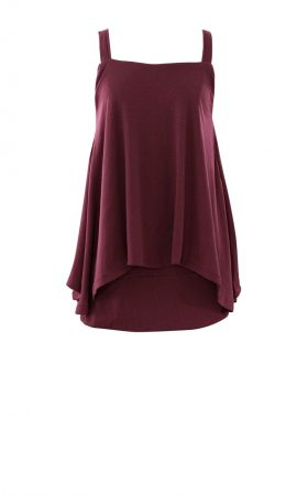 British Steele Burgundy Drape Top