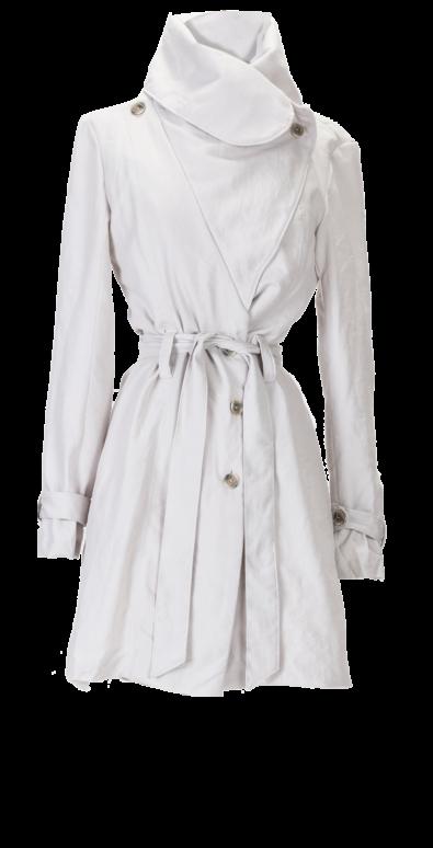 British Steele Wool Gabardine Trench Coat
