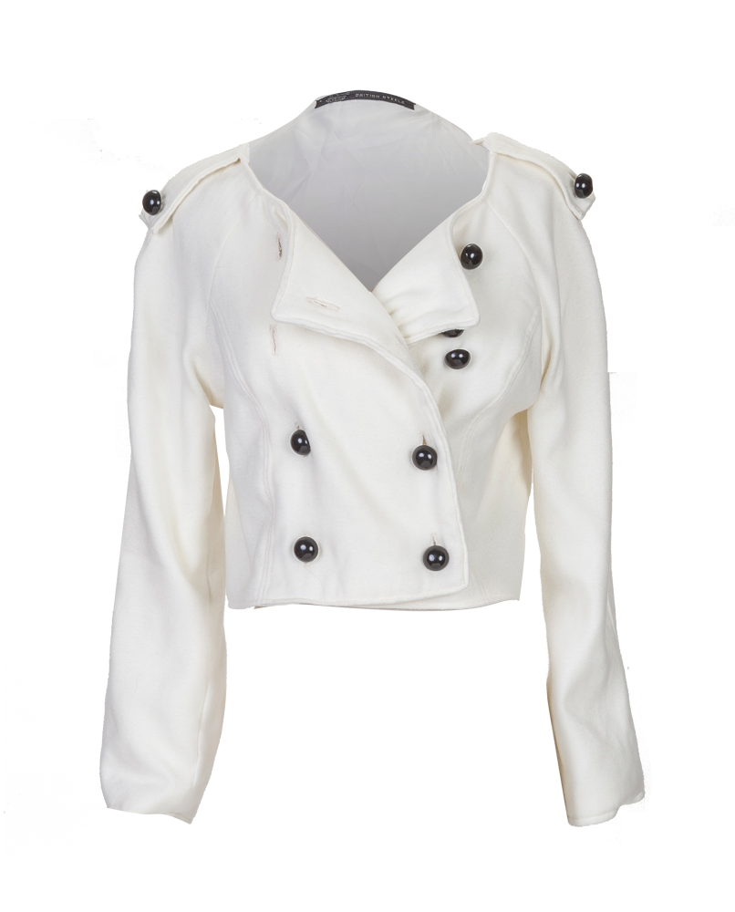 White Cropped British Steele Jacket