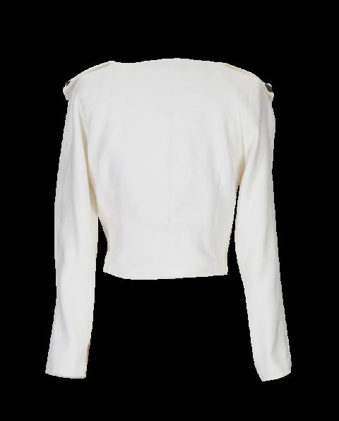 White Cropped British Steele Jacket