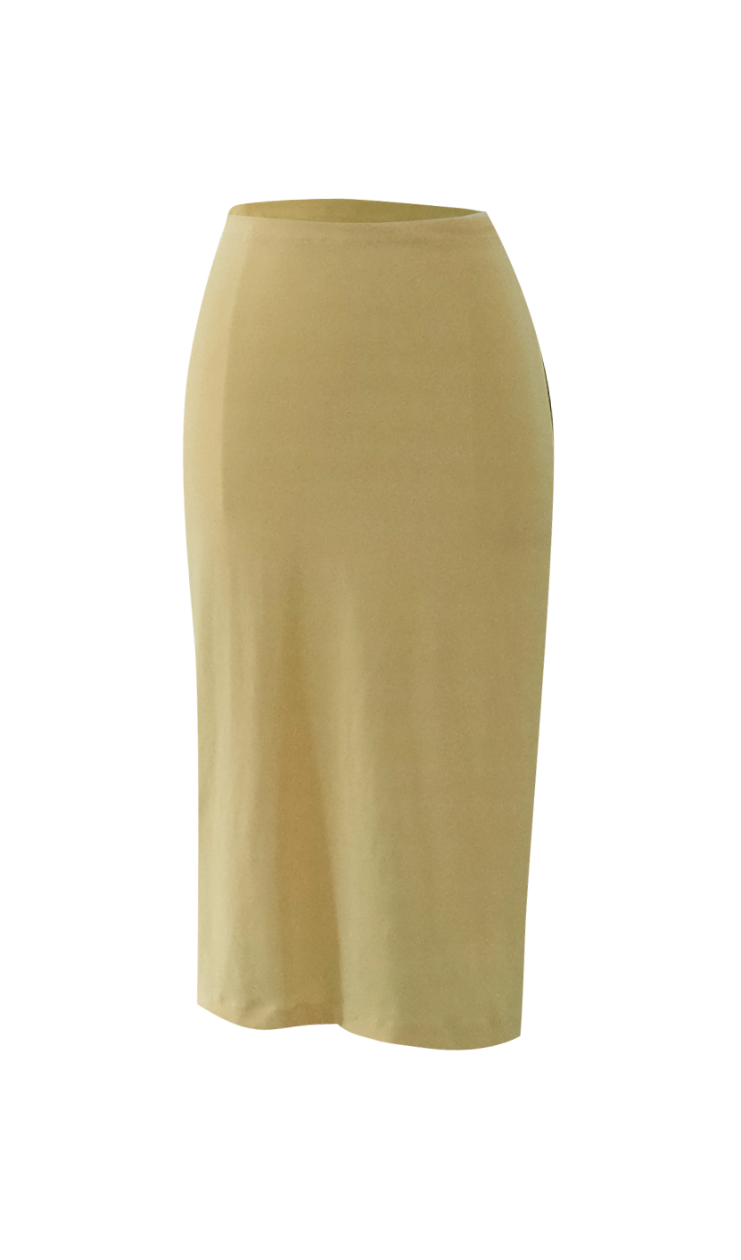 Yellow Pencil Skirt by British Steele