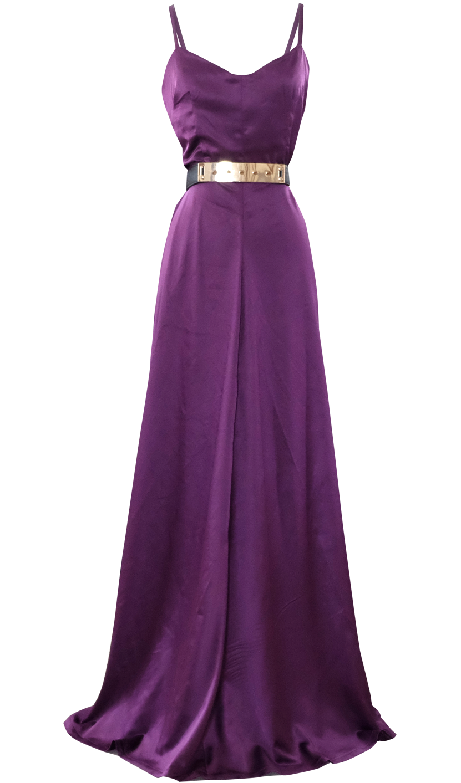 Long Evening Satin Maxi Dress by British Steele