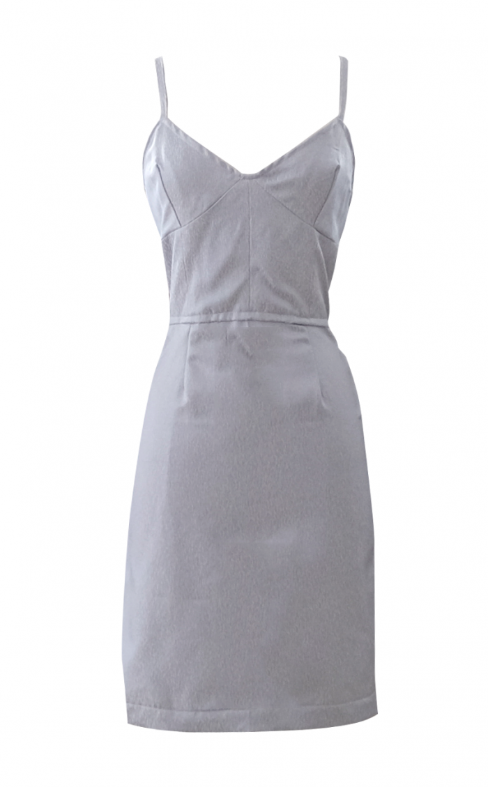 British Steele Tiger Lily Baby Blue Corset Dress