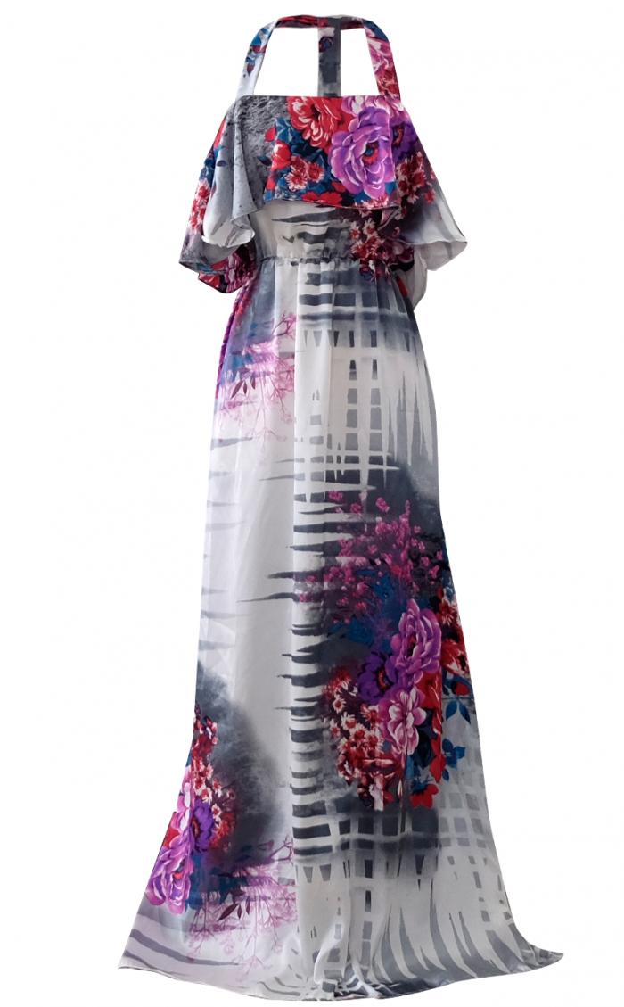 Garden Floral Watercolor Dress