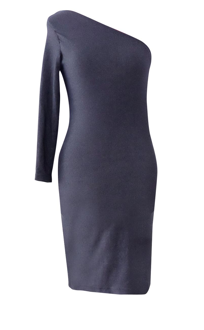 3691c7d161 Little Denim One Shoulder Pencil Dress - British Steele