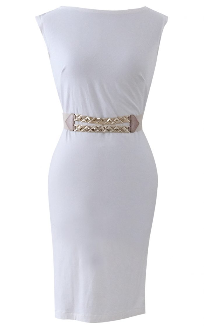 White Cap Sleeve Shift by British Steele