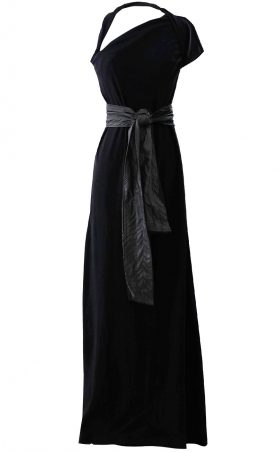 British Steele Asymmetrical Maxi Dress