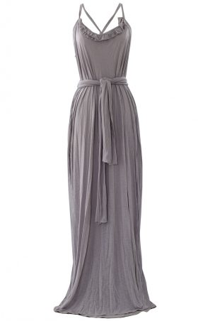 British Steele Grecian Grey Maxi Dress