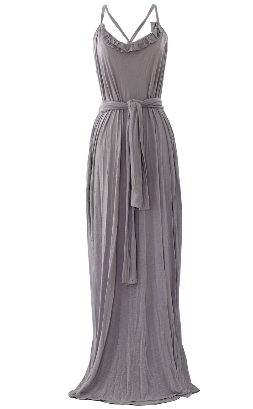 Grecian Gray Maxi Dress By British Steele Atelier