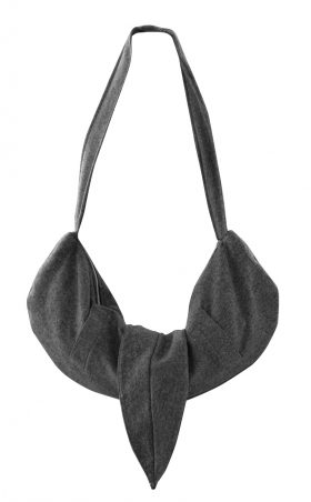 British Steele Gray Hobo Wool Bag