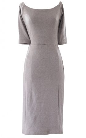 Victoria French Brown Fitted Pencil Dress by British Steele